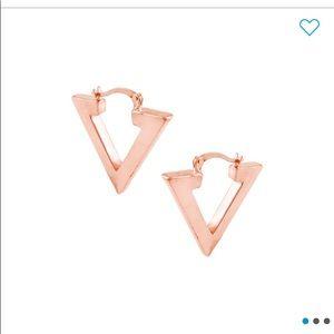 Savvy Cie Rose gold hoop earrings